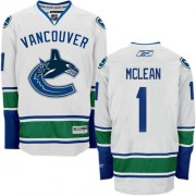 Men's Reebok Vancouver Canucks 1 Kirk Mclean White Away Jersey - Authentic