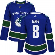 Women's Adidas Vancouver Canucks Chris Tanev Blue Home Jersey - Authentic