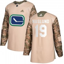 Youth Adidas Vancouver Canucks Markus Naslund Camo Veterans Day Practice Jersey - Authentic