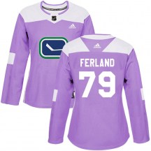 Women's Adidas Vancouver Canucks Micheal Ferland Purple Fights Cancer Practice Jersey - Authentic